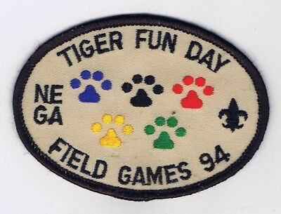 Activity Patch N. E. Georgia Tiger Fun Day Field Games 1994 604218 - Field Day Activities