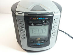 Timex AM/FM Stereo Clock Radio With CD Player Model T600B Digital Indiglo
