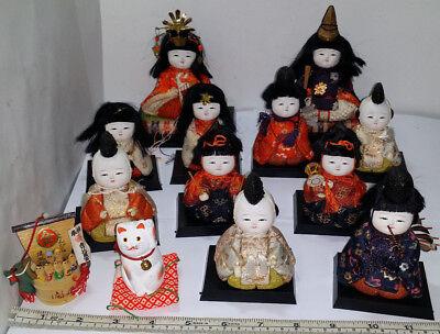 Hina Ningyo Hinamatsuri Vintage Dolls & Miniature Furniture Collection. See Pics
