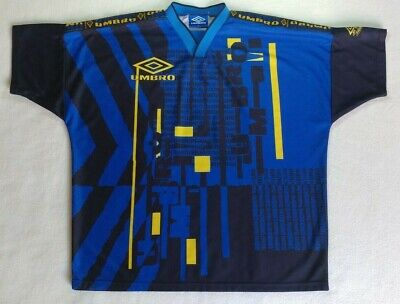 954f75fff Vintage 90's Umbro Pro Training Football Jersey Rare Blue Soccer Shirt Size  XL