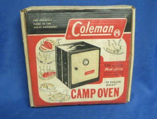 Vintage Coleman Folding Camp Oven in Original Box 5010A700