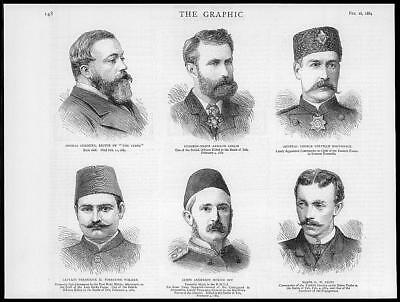 1884 Antique Print - PORTRAITS Chenery Leslie Borthwick Walker Bay Giles  (04) segunda mano  Embacar hacia Spain