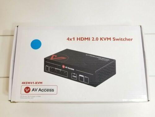 AV Access 4KSW41-KVM 4 Port HDMI USB KVM Switch 4K60Hz