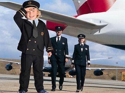 Airline Pilot Captain fancy dress up BNWT 3-7y - Kids Airline Pilot Kostüme