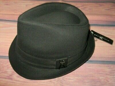 MENS MARC ECKO FEDORA BLACK SCISSORS HAT CAP SIZE S/M](Fedora Black)