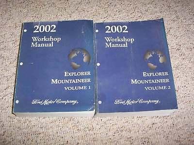 2002 Mercury Mountaineer Factory Shop Service Repair Manual Set AWD 2002 Mercury Mountaineer Manual