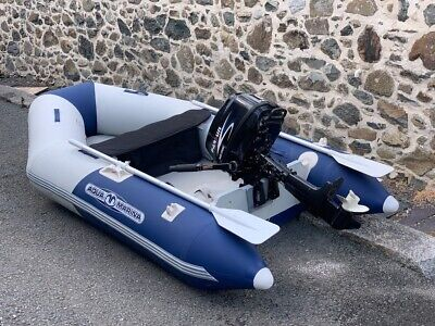 Aqua Marina 2.7m Airdeck Inflatable Boat #BT88850 and NEW Tohatsu 4hp Outboard