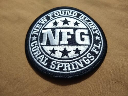 New Found Glory - Band Patch - 2001 - C & D Visionary - Rare