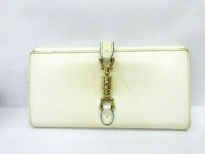 Authentic GUCCI White Long Wallet 5615170 Gucci White Wallet