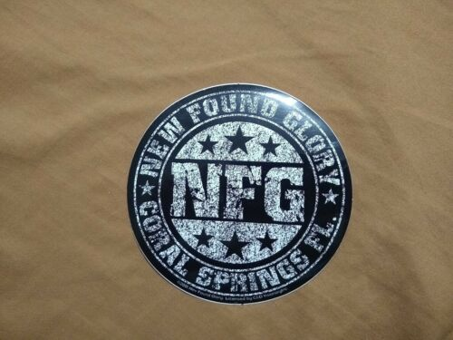 New Found Glory - Round Band Sticker - 2001 - C & D Visionary - Rare