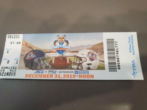 Sun Bowl MINT Season Ticket 12/31/19 Florida State Arizona State 2019 NCAA Stub