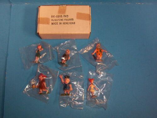 6 Vintage 1960 Marx Disneykins Tinykins Flintstones Complete Set Original W/ Box
