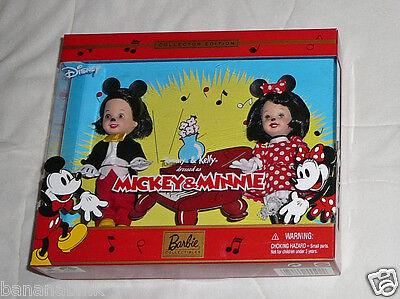 NEW Mattel Barbie Tommy Kelly Doll Disney Mickey Minnie 2002 55502