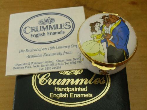 "Boxed Crummles/Disney Beauty & the Beast Enamel Box - <1 3/4""(>4.25cms)"