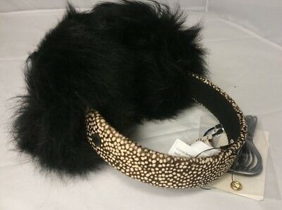 NEW NWT Ugg Earmuffs Wired Over Ear Warmers Black Micro Winter Fuzzy 16163DL17