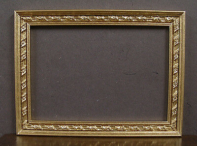 FRAME  for  ACEO  Art  Picture  Watercolor  or Painting ~ Handcrafted ~ Gold