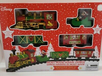 Disney Mickey Mouse Holiday Express 12 Piece Train Set NEW! Batteries Included