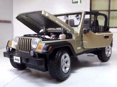Jeep Rubicon Wrangler 4x4 LGB G 1:24 27 Scale Detailed Diecast Maisto Model