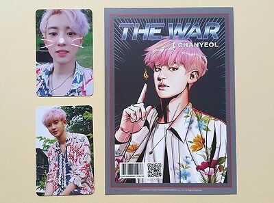 EXO 4th Album The War Official Photocard Photocard - Chanyeol Set ( 3 pcs)