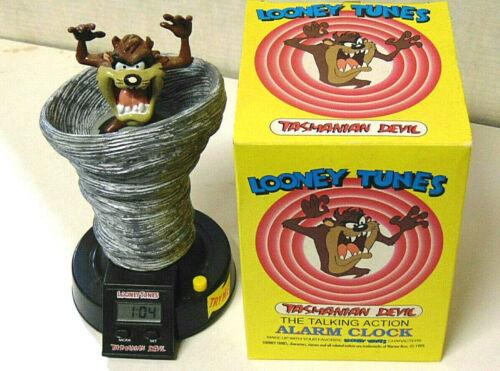 Looney Tunes Tasmanian Devil Tornado Pop-Up Talking Alarm Clock 1993 Works