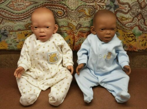 FAS Fetal Alcohol Syndrome Baby Think It Over White & Black Female Girl Doll