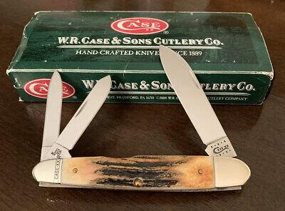 2010 CASE XX 5391 WH STAG HANDLE CIGAR WHITTLER POCKET KNIFE