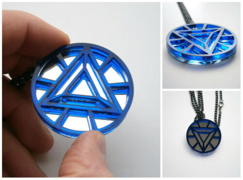 Iron Man Necklace -Heart Arc Reactor - Avangers Pendant Necklace
