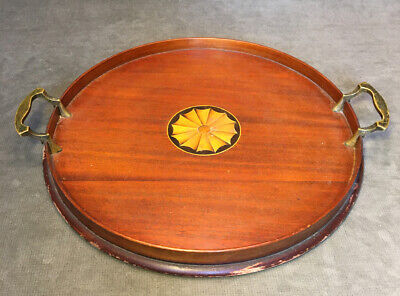 Antique Mahogany Serving Tray by Manning Bowman & Co. 15