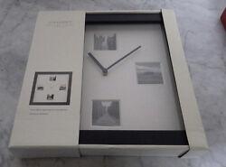 Inhabit Contemporary Woods Flat Black Wall Clock 12.5  x 12.5  NIB Retail $33