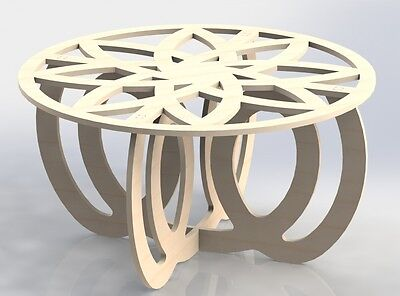 Center Table Design Vectors Dxf Files Cnc Router And Laser Cutting Furniture 053