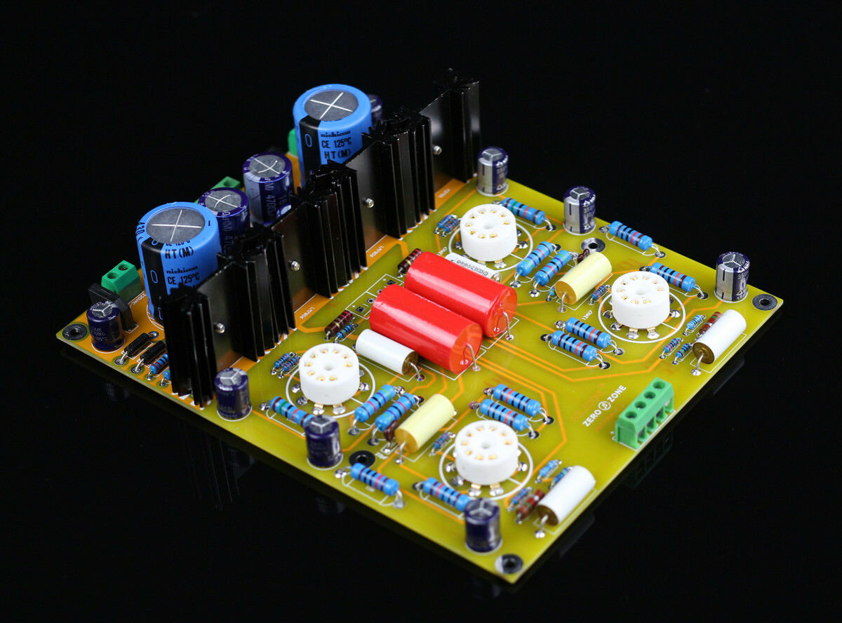 Finished PRT05A 12AX7 Tube Preamplifier base on conrad-johnson CJ stereo preamp