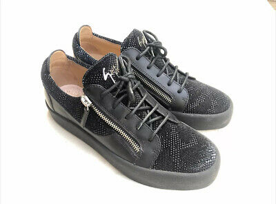 Men's Giuseppe Zanotti Frankie Zip Sneakers Shoes in Black - Size US 10 Eur 43