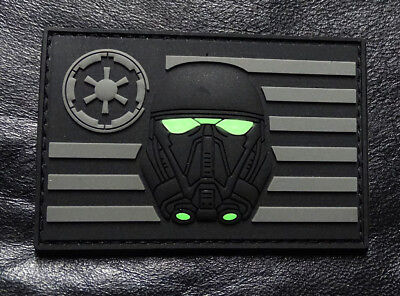 Rubber Patch - Stormtrooper USA Flag Star Wars Rogue Morale 3-D PVC Rubber Hook Patch ACU-MTS1