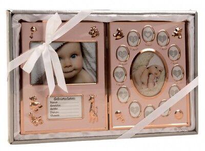 """Baby Bilderrahmen bronze """"Mein erstes Jahr"""" 41,5 x 27,5 cm"""