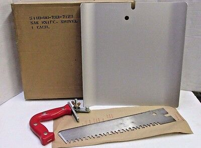 US Army Pilot Aircrew Cold Climate Survival Kit Type A2 Saw Knife Shovel Assembl