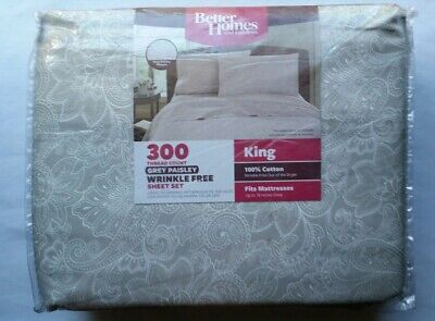 New Better Homes And Garden 300 TC Wrinkle Free King Sheet
