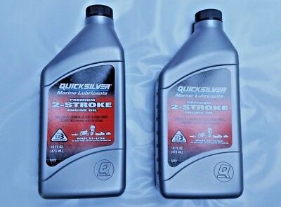 Mercury Quicksilver 2 Cycle 2 Stroke PREMIUM OUTBOARD OIL Gas/Fuel Mix