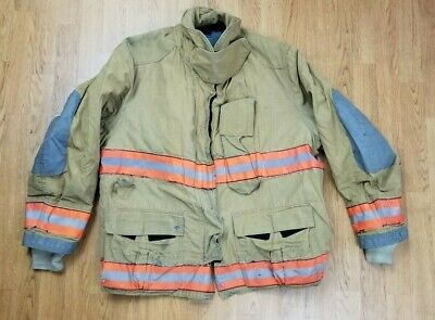 Globe Firefighter Bunker Turnout Jacket 50 Chest X 32 Length Halloween