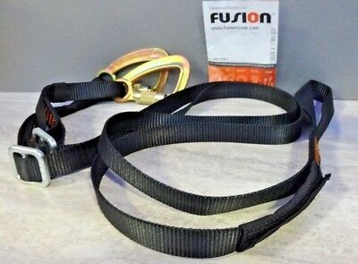 Fusion Climb Y Legged Lanyard With Double Locking Carabiner Black Rs309