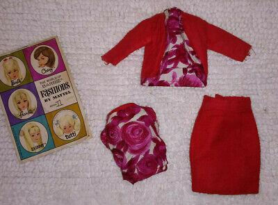 Barbie Clone Vintage HK British Crown Colony Red Floral 3 Piece Suit Fashion