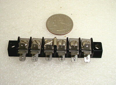 6 Position Terminal Block 3 - Triple Spade Lugs Screws Type