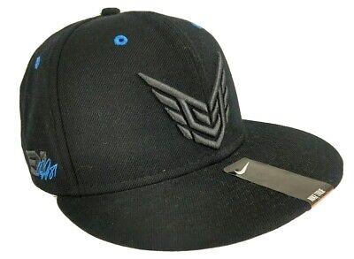 Nike True 3D Logo #81 Snapback Hat Style 603622-010 Black Blue