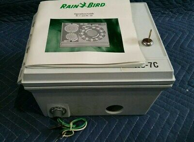Rain Bird RC-7C Automatic Sprinkler Controler 120VAC Outdoor Watering Control