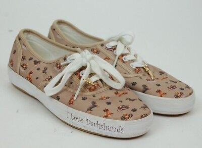 The Bradford Exchange I love Dachshunds Slippers Fashion Sneaker Shoes, used for sale  Statesville