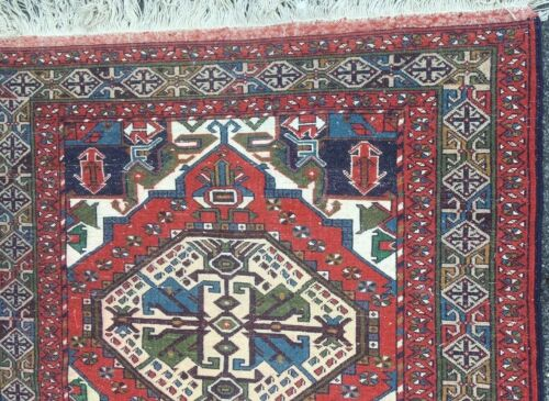 Colorful Rare Vtg Tajabad Kazak Oriental Rug Area Carpet 4