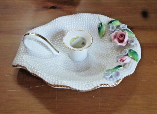 Vintage Porcelain Chamber Candle Holder