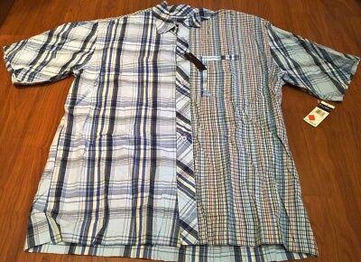 Light Blue Plaid Shirts (Fubu Button Up Dress Shirt Blue/Light Blue/other colors Plaid XL Nice!)