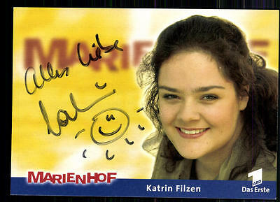 Katrin Filzen Marienhof Autogrammkarte Original Signiert ## BC 9381