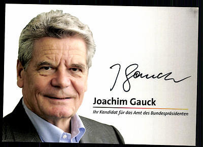 Joachim Gauck Autogrammkarte Original Signiert ## BC 39610