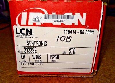 Lcn Sentronic 3133se-std 24v Lh Al Surface Track Closerslvr Us26d